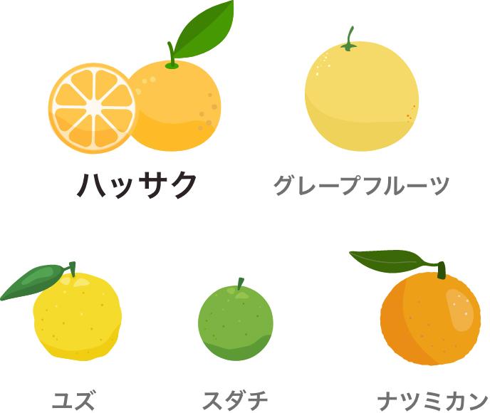 オーラプテンが含まれる主な果物